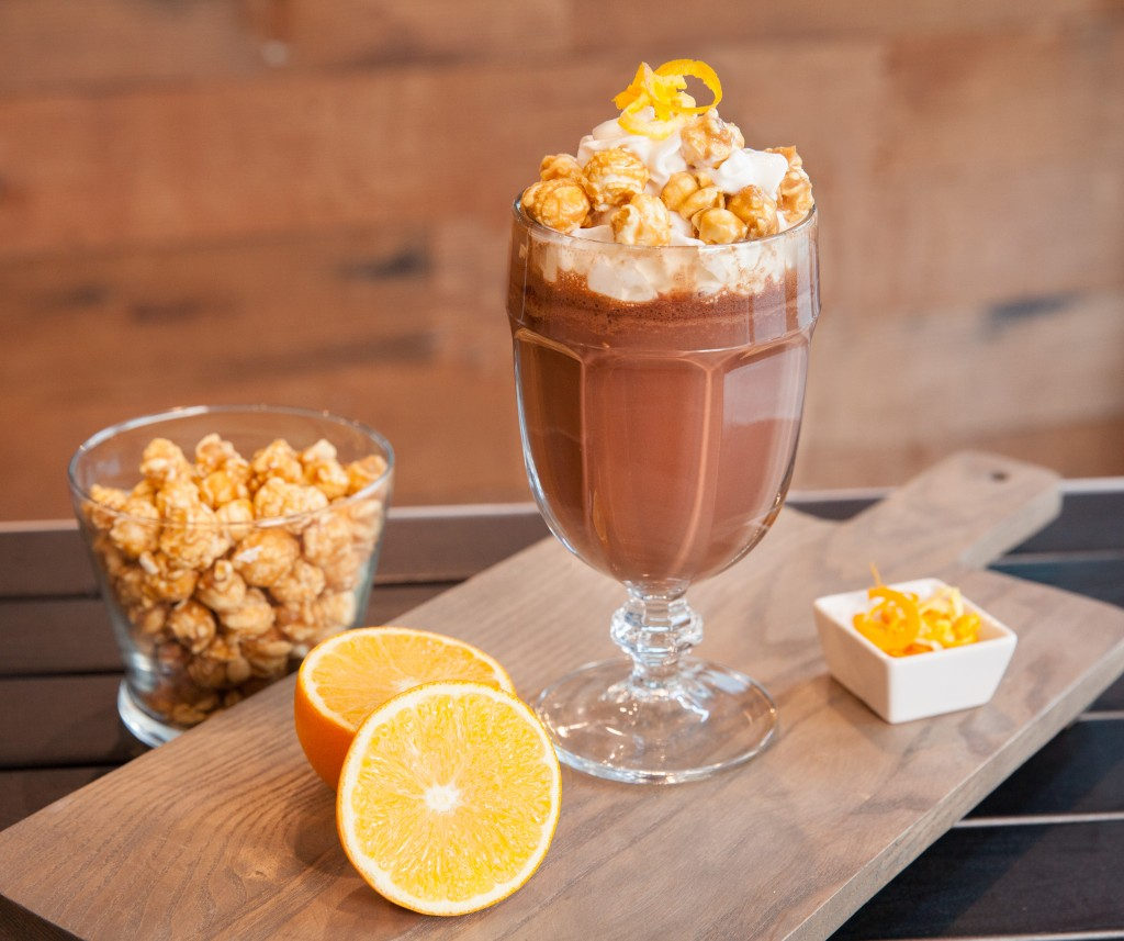 Popcorn Crowned Orange Hot Chocolate